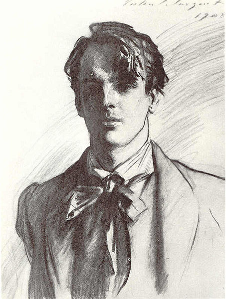 William Butler Yeats by John Singer Sargent, 1908