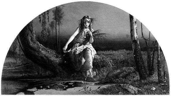 Ophelia, circa 1873